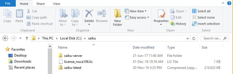 saiku folder