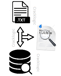 search data from oracle and text file